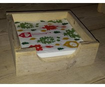 Servettenhouder vierkant model (gemaakt van oud steigerhout)
