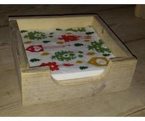 Serviettenhalter quadratisch Modell (aus altem Holz Gerüstbau)