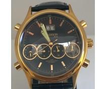 Madison Quartz heren horloge, gemaakt van edelstaal en goud verguld (doorsnede 42 mm)