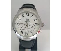 Madison New York Quartz heren horloge met stalen kast (doorsnede 44 mm)