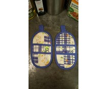 Set magnetronwantjes (Design Beeren mit blauen Quadrat)