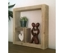 Square Decoration Window 40 x 40 cm (made from used wood scaffold)
