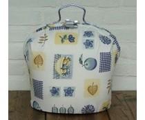 NEW! Design Tea Fair (бял фон със сини и кафяви фигури)