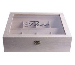 8-Fach weißen Tee Box mit Sichtfenster