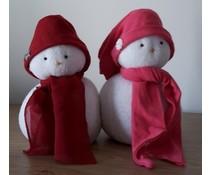 NEW! Deco sneeuwpopjes ca. 15 cm hoog (handmade in Nederland, assorti kleuren)