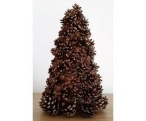 NEW! Декорирането коледна елха около 34 см височина (ръчна изработка в Холандия, изработени от борови шишарки)