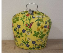 Design Teapot топло (dessin цветя с жълт фон)