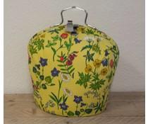 Design Theepot warmer (dessin bloemen met gele achtergrond)