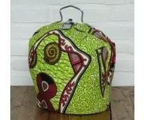 NEW! Progettazione Tea Fiera realizzata in speciale tessuto Batik (con i puntini verdi e figure)