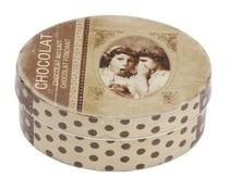"""Луксозен дизайн с текстови полета с """"Chocolat"""" с отделен капак (размер 150 х 115 х 60 mm)"""
