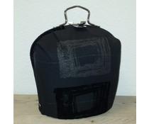 Design Theepot warmer (dessin zwart met grijze figuren)
