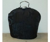 Design Theepot warmer (dessin oud bollig zwart met figuren)