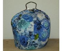 Design Teapot warmer (dessin blue roses)