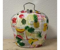 Design Teapot топло (шарени с изображения на плодове и текстове)