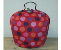 Design Teapot топло (модерен дизайн в розов цвят с полка точки)