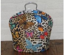 NEW! Design Theebeurs (tijgerprint met mooie kleurige vlinders)