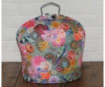 NEW! Feira de Design Tea (flores coloridas, borboletas e pássaros)