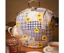 Design Tee Messe Sonnenblume mit blauen Diamanten