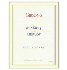 2004 Gibsons Merlot Reserve