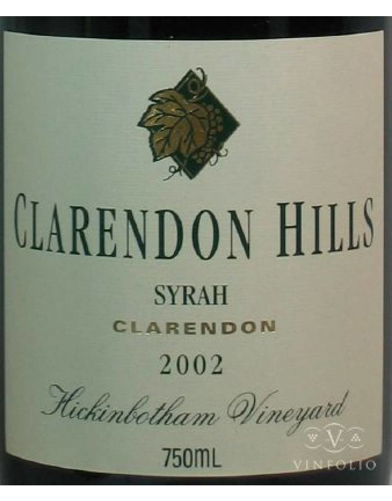 Clarendon Hills 1998 Clarendon Hills Shiraz Hickinbotham