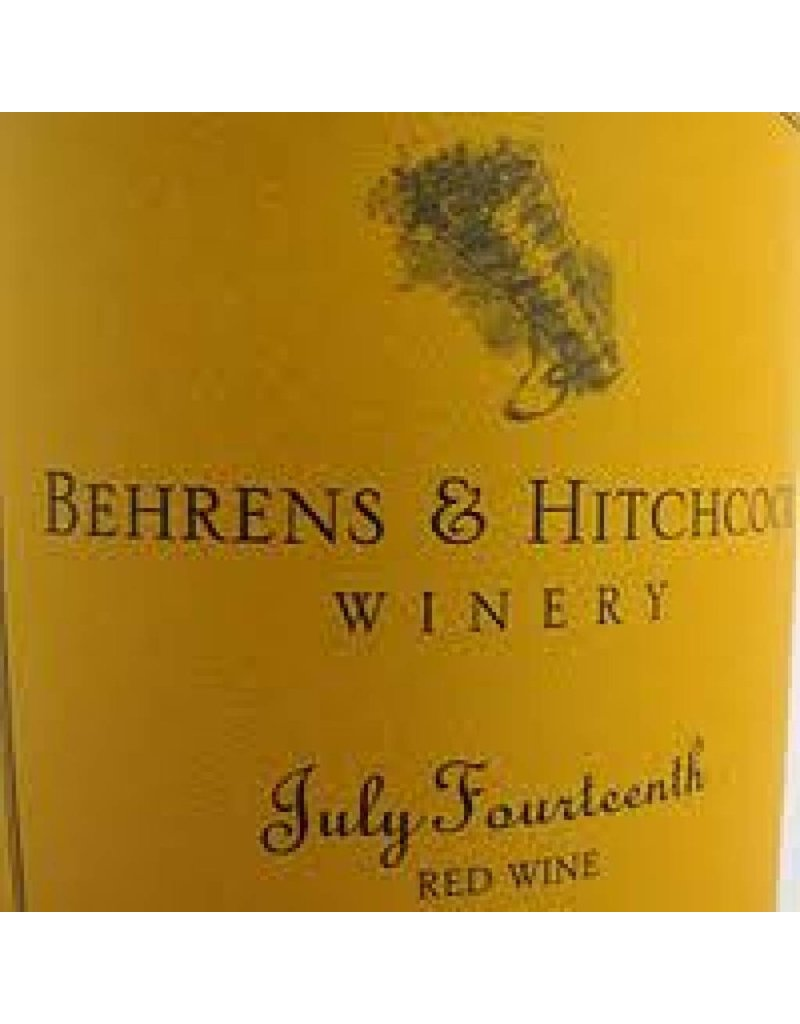 Behrens Family Winery 1995 Behrens And Hitchcock Napa Valley Zinfandel
