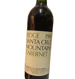 Ridge Vineyards 1995 Ridge Cabernet Sauvignon Santa Cruz