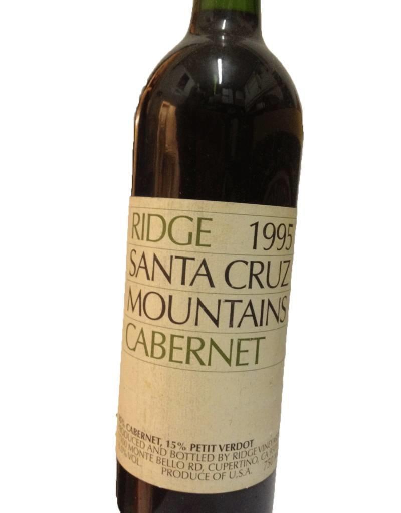 Ridge Vineyards 1995 Ridge Cabernet Sauvignon Santa Cruz