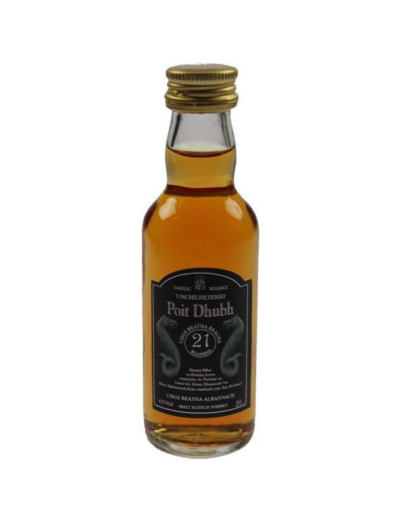 Poit Dhubh Poit Dhubh 21 Years Old Malt Whisky Miniatures 50ML 43,0% Alcohol