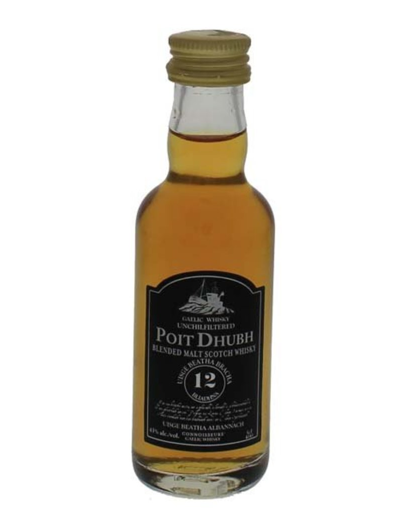 Poit Dhubh Poit Dhubh 12 Years Old Malt Whisky Miniatures 50ML 43,0% Alcohol