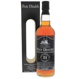 Poit Dhubh 21 Years Old Malt Whisky 700ml Gift box