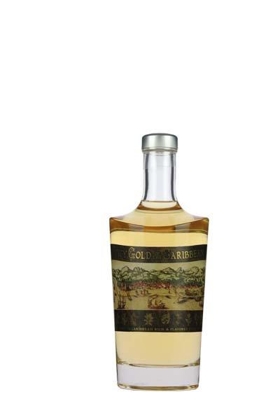 Caribbean Spicy Gold Rum 700ml -Glas-