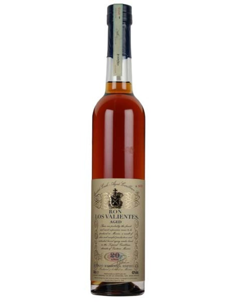 Los Valientes 500 ml Rum Los Valientes 20 Y.O. Anejo Reserva Especial Mexico