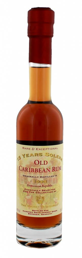 Secret Treasures Old Caribbean Rum 15 Years Old Solera 200ML