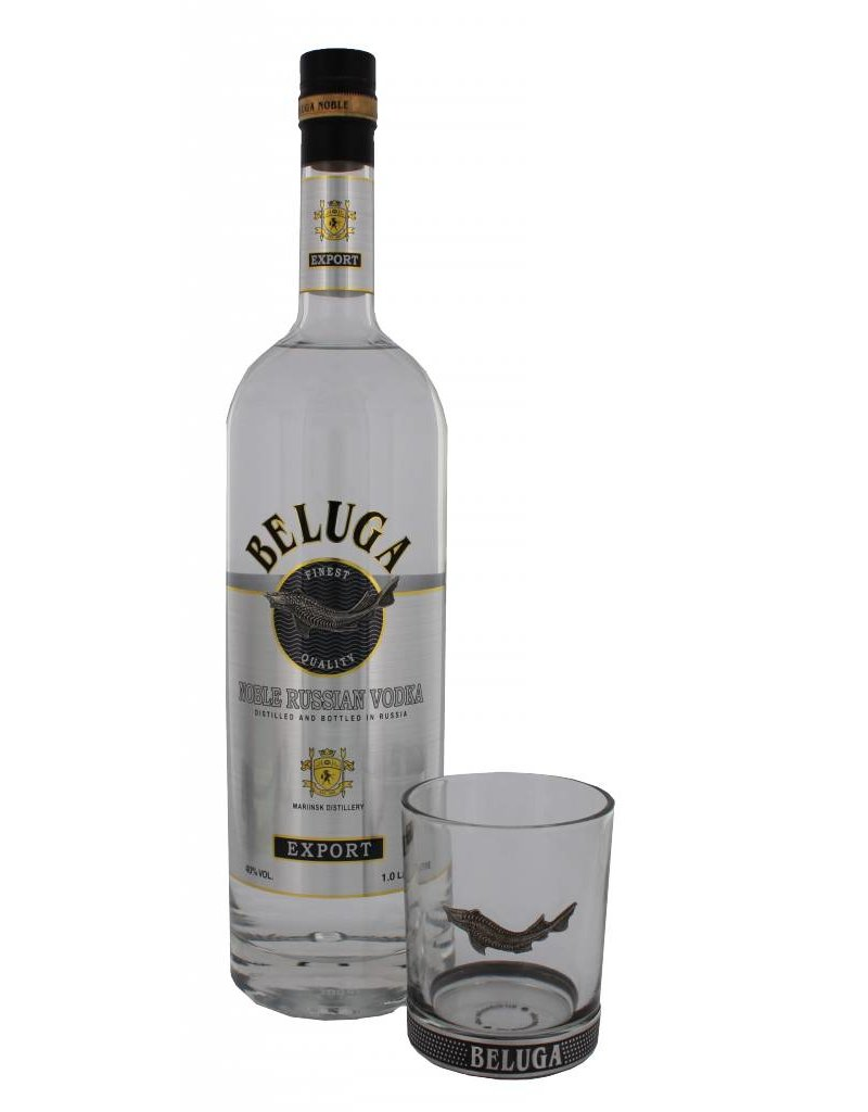 beluga noble vodka 1 liter glas gift box luxurious drinks. Black Bedroom Furniture Sets. Home Design Ideas