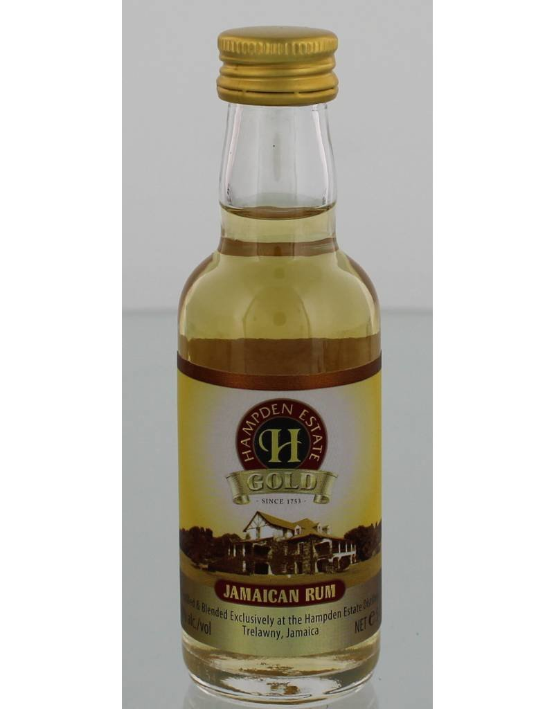 Hampden Estate Gold Rum Miniatures 50ML