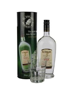 El Dorado Rum 3YO 700ml + Glas Gift box