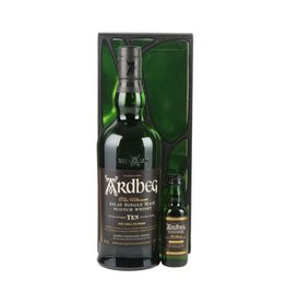 Ardbeg 10 Years Old Malt Whisky 700ml + Ardbeg Uigeadail 50ml Gift box