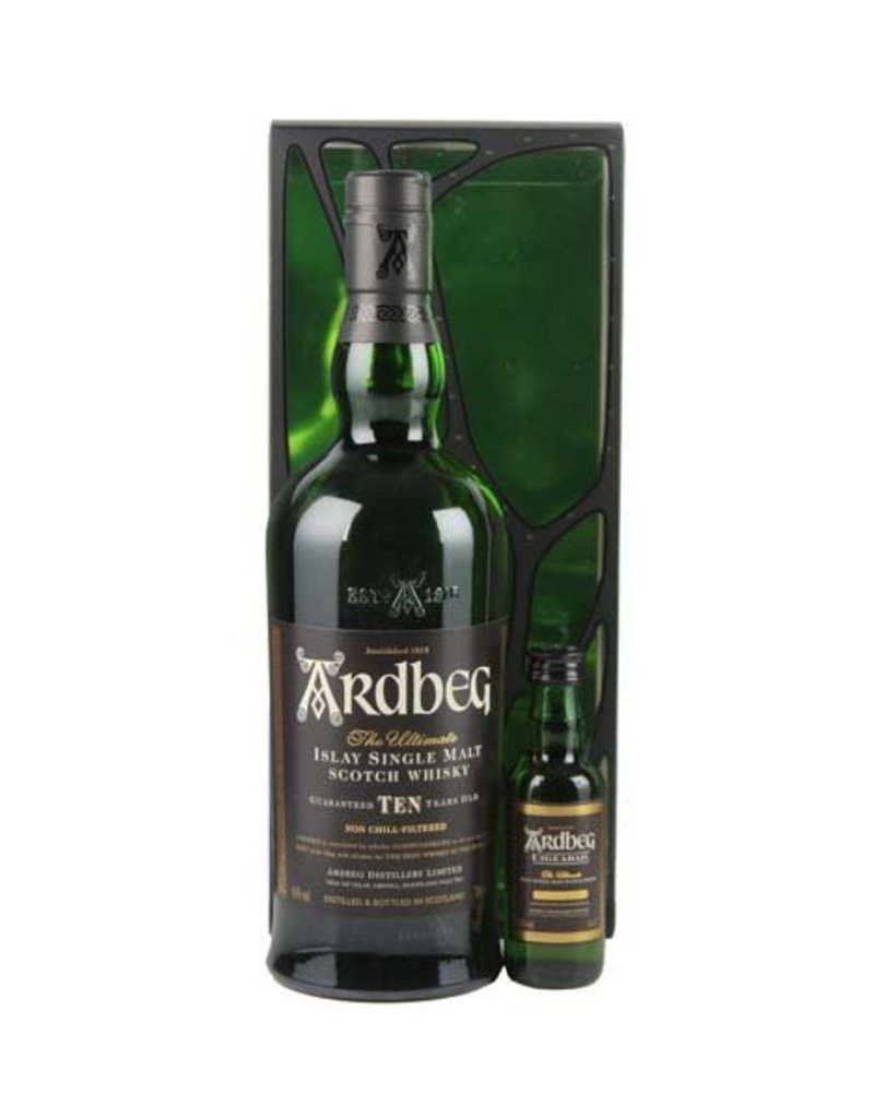 Ardbeg Ardbeg 10 Years Old Malt Whisky 700ml + Ardbeg Uigeadail 50ml Gift box
