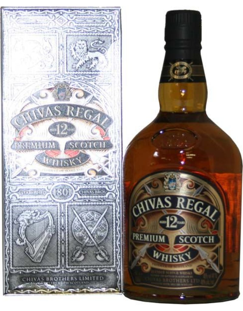 Chivas regal 12 years old whisky 1 liter gift box luxurious drinks - Chivas regal 18 1 liter price ...