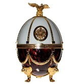 Imperial Collection Vodka Faberge Egg 700ml Bordeaux/White Gift box