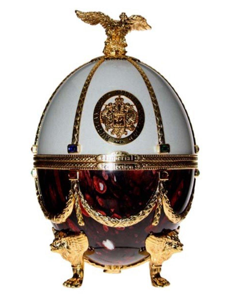 Imperial Collection Vodka Faberge Ei 700ml Bordeaux/White Gift box