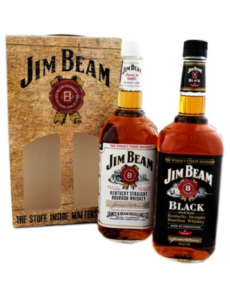 Jim Beam 2000 ml Bourbon Whiskey Jim Beam Twinpack