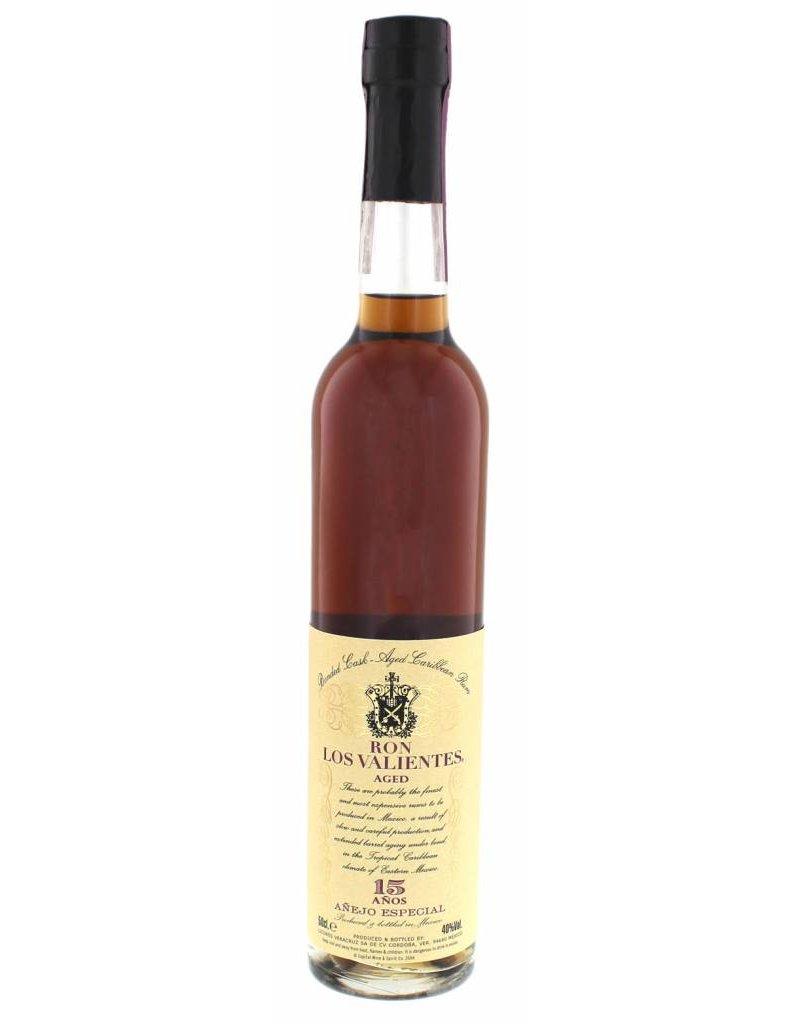 Los Valientes 500 ml Rum Los Valientes 15 Y.O. Anejo Especial Mexico