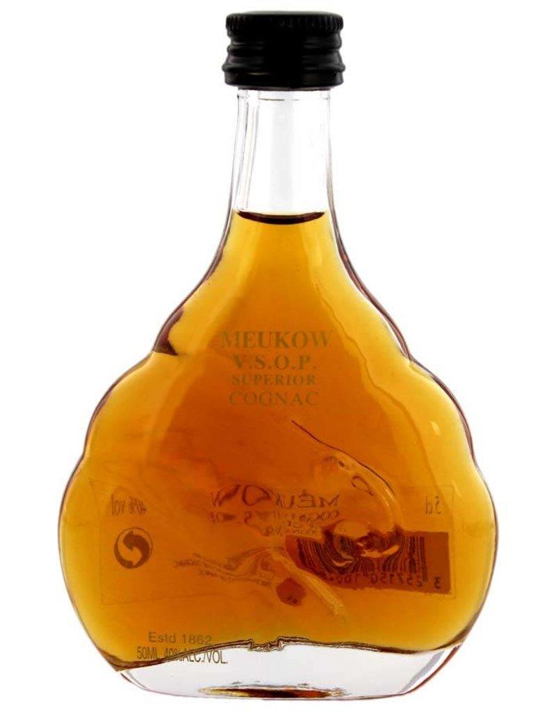 Meukow 50 ml Cognac Meukow V.S.O.P. Miniatuur
