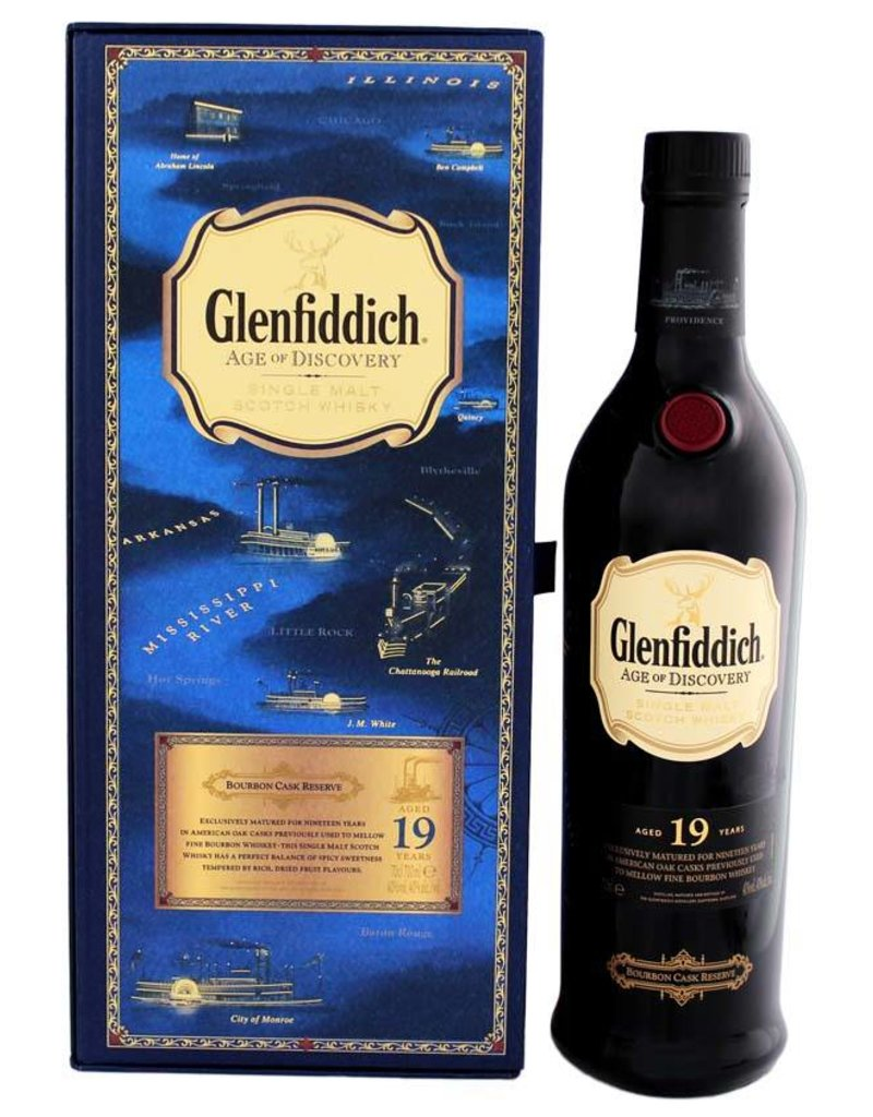 Glenfiddich Glenfiddich Age of Discovery 19YO Malt Whisky Bourbon 700ml Gift box