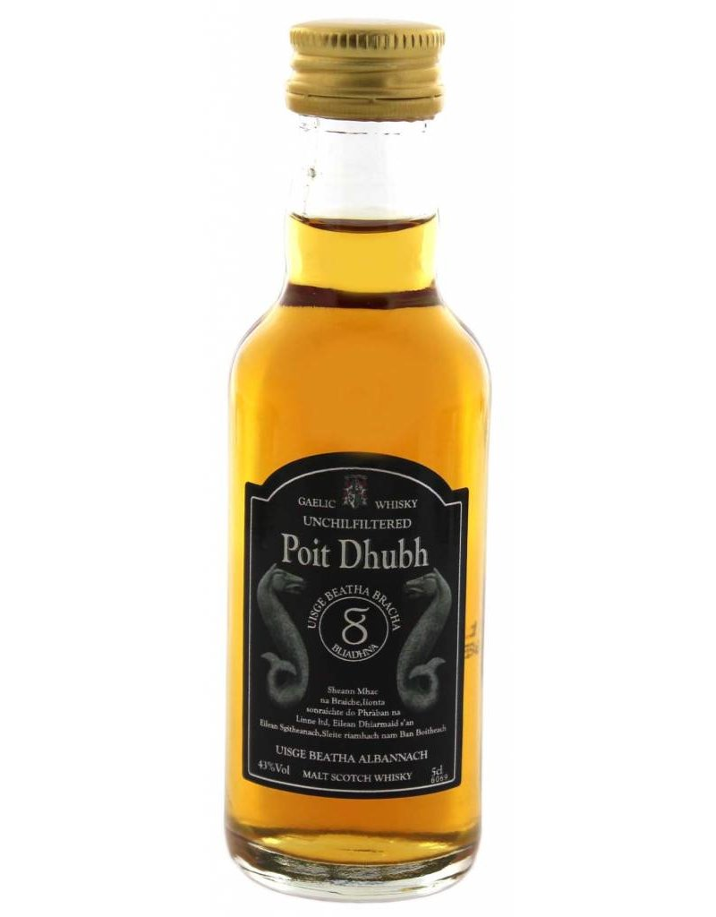 Poit Dhubh Poit Dhubh 8YO Malt Whisky Miniatures 0,05L 43,0% Alcohol