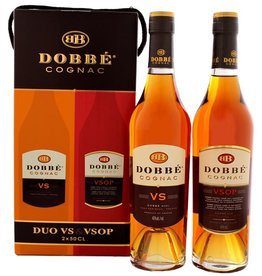 Dobbe Dobbe Cognac Duo VS & VSOP 2x500ml Gift Box