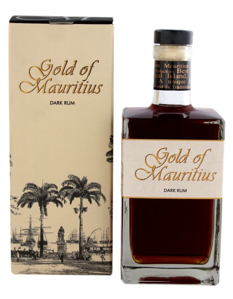 Gold of Mauritius Dark Rum 700ml Gift Box