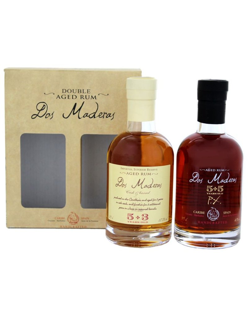 Dos Maderas Dos Maderas 5 Years Old+3 Years Old + PX 5 Years Old+5 Years Old Giftset 2x200ml