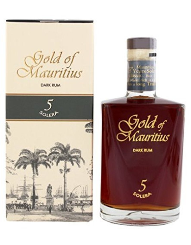 Gold of Mauritius Dark Rum Solera 5 700ml Gift Box